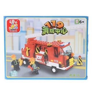 USD $ 13.29   SLUBAN 3D DIY Puzzle Fire Truck Building Blocks Bricks