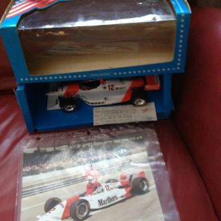 18 PAUL TRACY #12 PENSKE INDY CAR Model Case Ticket Official Photo