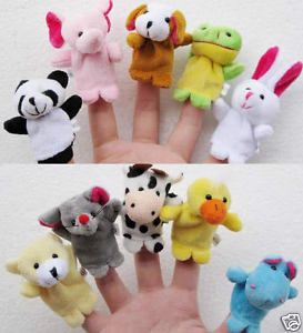 10X animal finger puppets baby toys plush toys party RPG Game for Bed