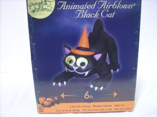 Airblown Inflatable Animated Moving Cat Halloween Yard Decoration
