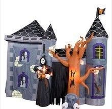 Huge 12ft Gemmy Airblown Inflatable Haunted House Castle