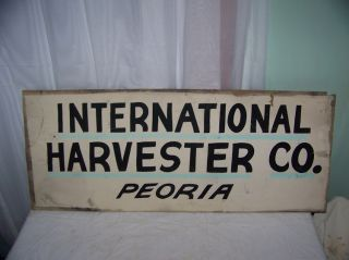 Vintage 1930s International Harvester Truck Tractor Sign Peorial
