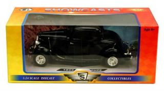 1934 Ford Coupe Hard Top   124 Scale Diecast Model   Black   Motormax
