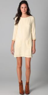 Rag & Bone Harlow Dress with Crackled Leather Trim