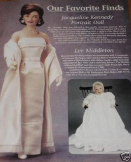 The Franklin Mint Jackie Jacqueline Kennedy Doll Ad Advertisement