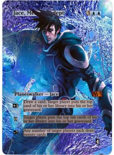 FOIL ALTERED ART JACE, MEMORY ADEPT M13 MAGIC THE GATHERING ♕