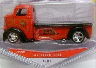 1947 Ford COE Fire Truck Badge City Jada Diecast 1 64