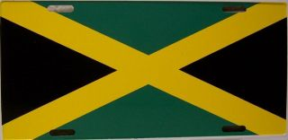 Aluminum National Flag Jamaica License Plate New