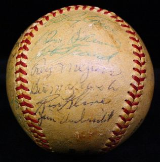 1959 Pirates Signed Autographed Team Baseball w Roberto Clemente JSA