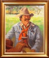 Ray Vinella The Westerner Signed Original Oil Painting Artwork Cowboy
