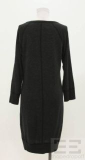 James Perse Standard Dark Grey Knit Sweater Dress Size 3