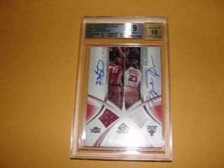 2005 6 UPPER DECK Michael Jordan LeBron James Signed Gamed used Jersey