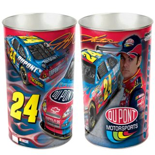 Jeff Gordon NASCAR 15 inch Wastebasket Trash Can New