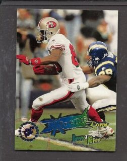 Jerry Rice Extreme Corp TSC 1995 Topps 207 Football