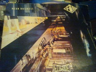 Jimmy Page THE FIRM PAUL RODGERS TONY FRANKLIN Signed MEAN BUSINESS