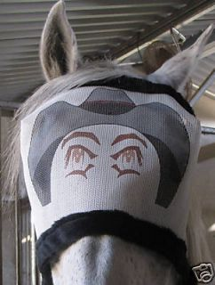 Large Only Cow Boy Joe Mask Horse Fly Mask Tack IGI