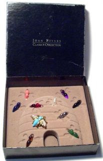 Joan Rivers Rhinestone Bee Brooch Pin Set Box Magnet