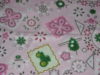 John Deere Pink Bandana 100 Cotton Flannel Fabric by The 1 2 Yard