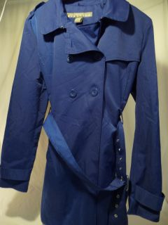 Kenneth Cole Reaction Womens Blue Coat Jacket XL