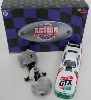 John Force 1997 Castrol GTX Ford Mustang 1 24 Scale Diecast Funny Car Action