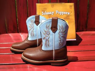 NEW John Deere Youth Johnny Popper Western boots kids toddler size 7 girls boys