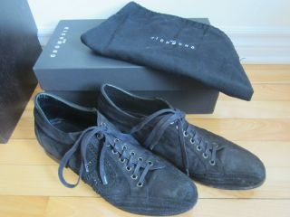 AUTHENTIC Mens JOHN RICHMOND JR Black Suede Dress Shoes 42EUR 8UK 9US