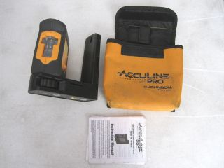 Johnson Acculine Pro 40 6620 Self Leveling Hi Power Cross Line Laser Level Tool
