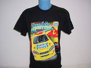 Juan Pablo Montoya 42 Juicy Fruit Black T Shirt NASCAR Racing CFS New