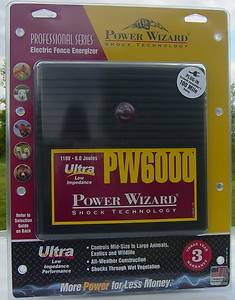 electric fence charger energizer 6 joule power wizard 100 miles 20 00 discount