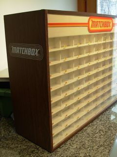 Large Vintage Matchbox Lesney Products 81 Slot Store Display Cabinet