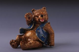 Faberge Bear Trinket Box by Keren Kopal Swarovski Crystal Jewelry Box