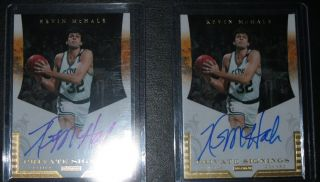 Kevin McHale Panini National Treasures Private Signings Auto