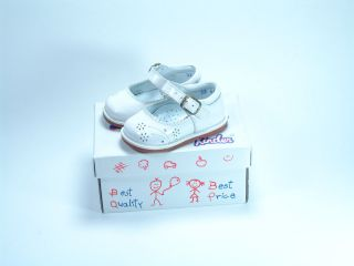 New Baby Girl White Dress Shoes Leather Best Quality Kinder