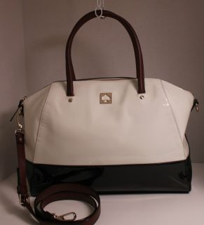 NWT Kate Spade Kingsbury Park Large Catalina Bag Ice Black WKRU1619 $