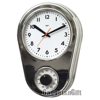 Bai Design Retro Kitchen Wall Clock Hour Timer Home Kitchen Analog