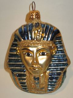 Kurt Adler Polonaise Egypt King Tut Poland Glass Christmas Ornament