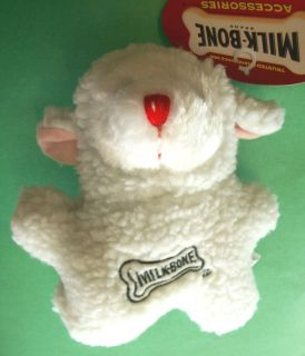 Bone Brand Collectible Squeak Play Fetch Fun Dog Toy White Lamb
