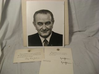 Lyndon and Lady Bird Johnson Signed Card Congratulating Me on My