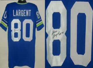 Steve Largent Signed Autographed Seattle Seahawks Jersey JSA Witness