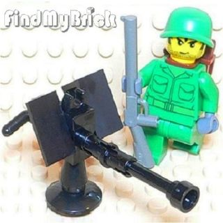 M726 Lego German Soldier Minifigure Machine Gun New