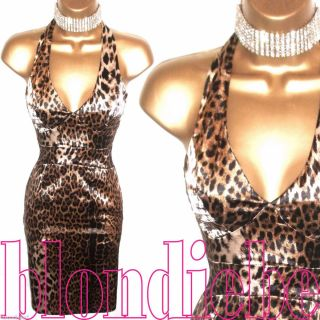 Lipsy ♥exquisite♥ Leopard Print Satin Wiggle Pencil Evening Dress