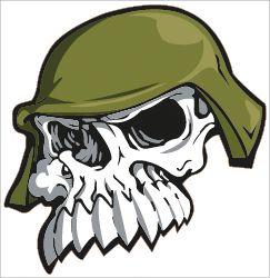Army Skull Logo Vinyl Decal Sticker Laminated 9 5 x 10 Large