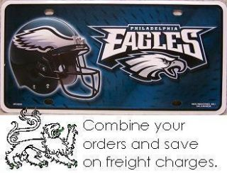 NFL Aluminum License Plate Philadelphia Eagles New