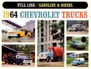 1964 Chevrolet Truck Sales Brochure Literature Book