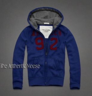 Abercrombie Fitch Mens Blue Lookout Mountain Hoodie Jacket Sz M