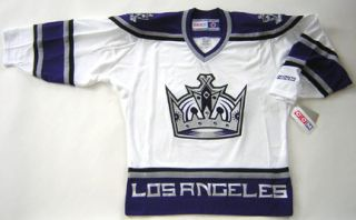 Authentic CCM Los Angeles Kings White Premier Jersey Size Small