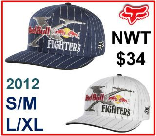 Fox Racing Mens Red Bull x Fighters Flexfit Hat Cap Pastrana Clothing