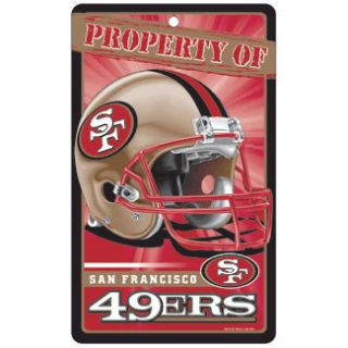 New NFL Licensed San Francisco 49ers Property Sign Plastic Decor