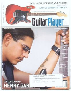 Guitar Player Magazine Henry Garza Los Lonely Boys RARE