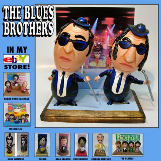 THE BLUES BROTHERS with JOHN BELUSHI CARTOON EGG ART FIGURES   1 of a